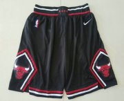 Wholesale Cheap Men's Chicago Bulls Black 2019 Nike Swingman Stitched NBA Shorts