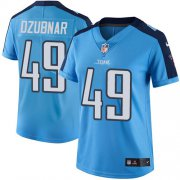 Wholesale Cheap Nike Titans #49 Nick Dzubnar Light Blue Women's Stitched NFL Limited Rush Jersey