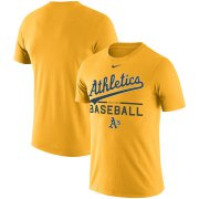 Wholesale Cheap Oakland Athletics Nike Practice Performance T-Shirt Gold