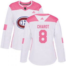 Wholesale Cheap Adidas Canadiens #8 Ben Chiarot White/Pink Authentic Fashion Women\'s Stitched NHL Jersey
