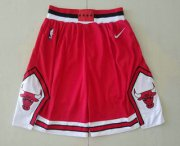 Wholesale Cheap Men's Chicago Bulls Red 2019 Nike Swingman Stitched NBA Shorts