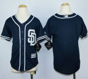 Wholesale Cheap Padres Blank Navy Blue Alternate 1 Stitched Youth MLB Jersey