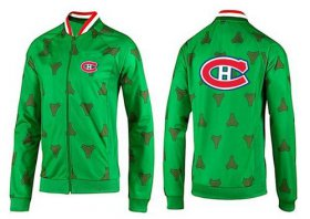 Wholesale Cheap NHL Montreal Canadiens Zip Jackets Green-2