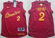 Cheap Youth Cleveland Cavaliers #2 Kyrie Irving adidas Burgundy Red 2016 Christmas Day Stitched NBA Swingman Jersey