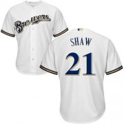 Wholesale Cheap Brewers #21 Travis Shaw White Cool Base Stitched Youth MLB Jersey