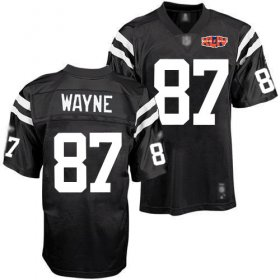 Wholesale Cheap Colts #87 Reggie Wayne Black Shadow With Super Bowl Patch Stitched NFL Jersey