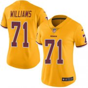 Wholesale Cheap Nike Redskins #71 Trent Williams Gold Women's Stitched NFL Limited Rush Jersey