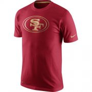 Wholesale Cheap Men's San Francisco 49ers Nike Scarlet Championship Drive Gold Collection Performance T-Shirt