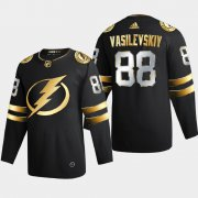 Cheap Tampa Bay Lightning #88 Andrei Vasilevskiy Men's Adidas Black Golden Edition Limited Stitched NHL Jersey