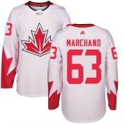 Wholesale Cheap Team CA. #63 Brad Marchand White 2016 World Cup Stitched NHL Jersey