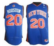 Wholesale Cheap New York Knicks #20 Allan Houston Blue Swingman Throwback Jersey