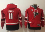 Wholesale Cheap Nike Falcons #11 Julio Jones Red/Black Youth Name & Number Pullover NFL Hoodie