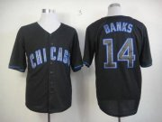 Wholesale Cubs #14 Ernie Banks Black Fashion Stitched Baseball Jersey