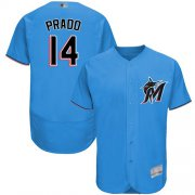 Wholesale Cheap marlins #14 Martin Prado Blue Flexbase Authentic Collection Stitched MLB Jersey