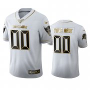 Wholesale Cheap Tampa Bay Buccaneers Custom Men's Nike White Golden Edition Vapor Limited NFL 100 Jersey