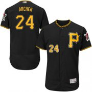 Wholesale Cheap Pirates #24 Chris Archer Black Flexbase Authentic Collection Stitched MLB Jersey
