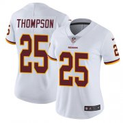 Wholesale Cheap Nike Redskins #25 Chris Thompson White Women's Stitched NFL Vapor Untouchable Limited Jersey