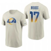 Wholesale Cheap Los Angeles Rams #17 Robert Woods Men's Cream 2020 Primary Logo NFL T-Shirt