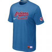 Wholesale Cheap Nike Cleveland Indians Short Sleeve Practice T-Shirt Light Blue