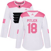 Wholesale Cheap Adidas Flyers #18 Tyler Pitlick White/Pink Authentic Fashion Women's Stitched NHL Jersey