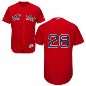 Wholesale Cheap Red Sox #28 J. D. Martinez Red Flexbase Authentic Collection Stitched MLB Jersey