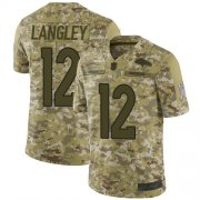 Wholesale Cheap Nike Broncos #12 Brendan Langley Camo Men's Stitched NFL Limited 2018 Salute To Service Jersey
