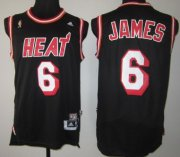 Wholesale Cheap Miami Heat #6 LeBron James ABA Hardwood Classics Swingman Black Jersey