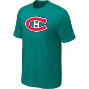 Wholesale Cheap Montreal Canadiens Big & Tall Logo Teal Green NHL T-Shirt