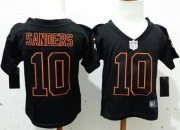 Wholesale Cheap Toddler Nike Broncos #10 Emmanuel Sanders Lights Out Black Stitched NFL Elite Jersey
