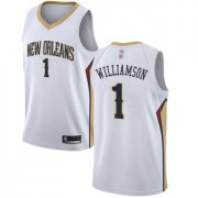 Cheap Youth Pelicans #1 Zion Williamson White Basketball Swingman Association Edition Jersey