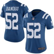 Wholesale Cheap Nike Colts #52 Ben Banogu Royal Blue Women's Stitched NFL Limited Rush Jersey