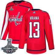 Wholesale Cheap Adidas Capitals #13 Jakub Vrana Red Home Authentic Stanley Cup Final Champions Stitched NHL Jersey