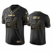 Wholesale Cheap Raiders #24 Johnathan Abram Men's Stitched NFL Vapor Untouchable Limited Black Golden Jersey