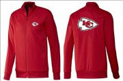 Wholesale NFL Kansas City Chiefs Team Logo Jacket Red_1