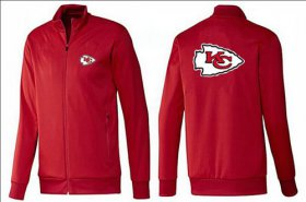 Wholesale Cheap NFL Kansas City Chiefs Team Logo Jacket Red_1