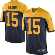 Wholesale Cheap Nike Packers #15 Bart Starr Navy Blue Alternate Youth Stitched NFL New Elite Jersey