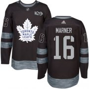 Wholesale Cheap Adidas Maple Leafs #16 Mitchell Marner Black 1917-2017 100th Anniversary Stitched NHL Jersey