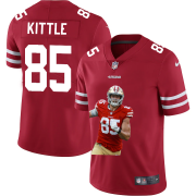 Cheap San Francisco 49ers #85 George Kittle Nike Team Hero 2 Vapor Limited NFL Jersey Red