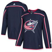 Wholesale Cheap Adidas Blue Jackets Blank Navy Blue Home Authentic Stitched Youth NHL Jersey