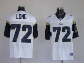 Wholesale Cheap Rams #72 New Player Chris Long Stitched White NFL Jersey