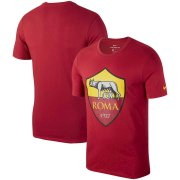 Wholesale Cheap AS Roma Nike Team Crest T-Shirt Crimson