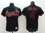 Wholesale Cheap Cardinals #4 Yadier Molina Black Fashion Flexbase Authentic Collection Stitched MLB Jersey