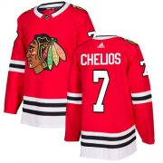 Wholesale Cheap Adidas Blackhawks #7 Chris Chelios Red Home Authentic Stitched NHL Jersey