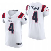 Cheap New England Patriots #4 Jarrett Stidham Nike Men's White Team Color Men's Stitched NFL 2020 Vapor Untouchable Elite Jersey