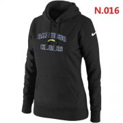 Wholesale Cheap Women's Nike San Diego Chargers Heart & Soul Pullover Hoodie Black