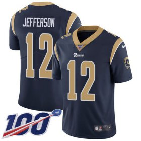 Wholesale Cheap Nike Rams #12 Van Jefferson Navy Blue Team Color Youth Stitched NFL 100th Season Vapor Untouchable Limited Jersey