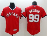 Wholesale Indians #99 Ricky Vaughn Red Flexbase Authentic Collection 1978 Turn Back The Clock Stitched Baseball Jersey