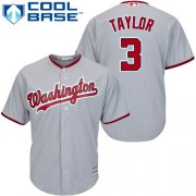 Wholesale Cheap Nationals #3 Michael Taylor Grey Cool Base Stitched Youth MLB Jersey