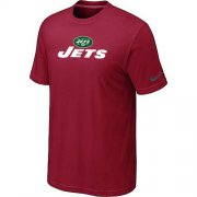 Wholesale Cheap Nike New York Jets Authentic Logo NFL T-Shirt Red