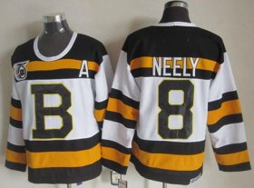 Wholesale Cheap Bruins #8 Cam Neely White CCM Throwback 75TH Stitched NHL Jersey